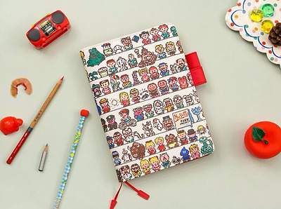 Cover for Hobonichi A5 A6 Size Planner Faux Leather Notebook Earthbound