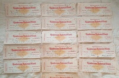 Canceled checks Kentucky Tobacco sales 1881 John R. Wilson Lot of 15