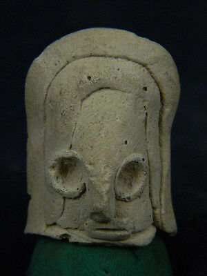 Ancient Teracotta Mother Goddess Head Indus Valley 2000 BC   #TR508