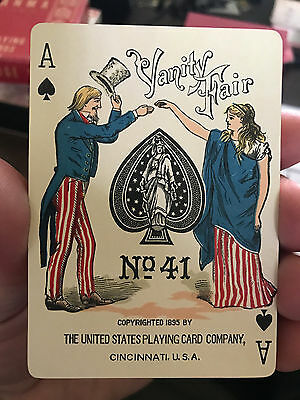 Antique 1895 Vanity Fair Playing Cards No. 41 Fine In A Very Good Box Rare