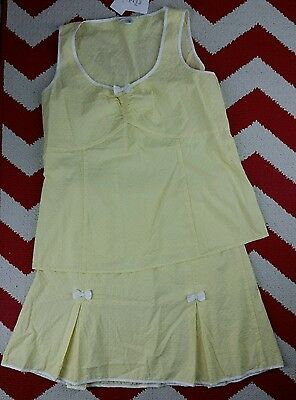 Motherhood Maternity 2-Piece Set Yellow Spring Easter Skirt Size Small S