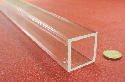 "Acrylic Square Tube Clear Extruded 1.50"" SQ x .125"" Wall x 72"" Length,1 Pcs -056"