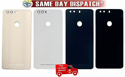 Replacement Battery Back Cover Door Glass Rear Panel  Huawei Honor 8 + Adhesive
