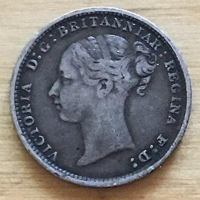 Great Britain 1886 3 Pence, KM-730, VF (#g35)