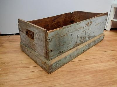 ANTIQUE Rustic SHABBY Chic TIMBER Box CRATE Wood HOLDER No Lid QZZQ Adelaide OK