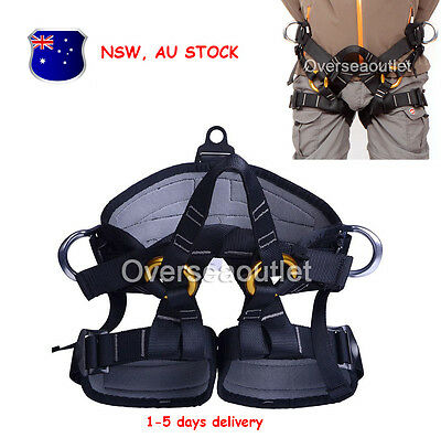 Rock Climbing Tree Surgeon Rappelling Equip Harness Seat Safety Bust Belt