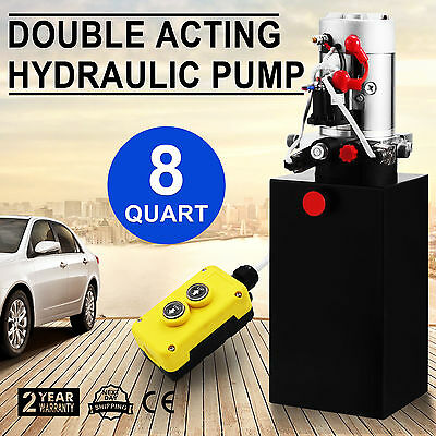 DC12V 8 Quart Hydraulic Pump Power Supply Pack for Unloarding Crane Dump Trailer