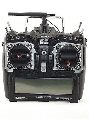 R/C Plane Hitec Aurora 9  2.4GHz AFHSS  9CH Transmitter With Touch Screen.