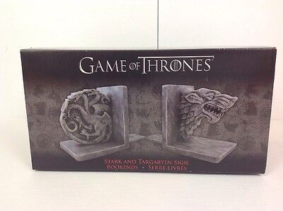 Game Of Thrones 6 Stark And Targaryen Sigil Bookends Hbo