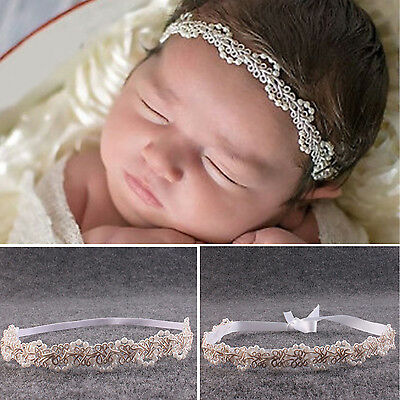 High Newborn Baby Imitation Pearl Flower Headband Girl Hairband Photography Prop