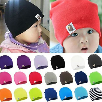 Kids Baby Soft Cotton Beanie Girl Boy Knit Hat Toddler Infant Newborn Warm Cap