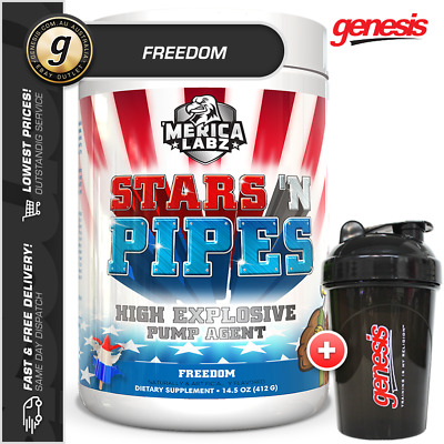 Merica Labz - Stars N Pipes *FREEDOM* - Energy Pump Pre-Workout + FREE Gift!