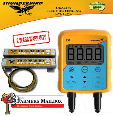 Thunderbird T30 Agricultural Livestock Scales Indicator & 2000kg Weigh Load bars