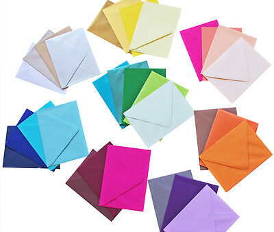 A7 Envelopes Pack of 25 | Variety of Colours Available