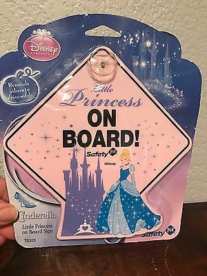 Disney Sparkle Princess Little Princess on Board Sign Suction Cup Automobile Car