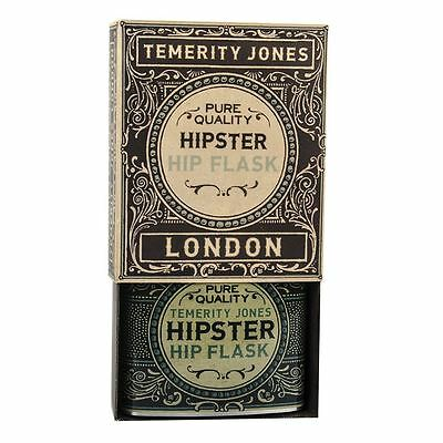 Gentlemen's Hipster Hip Flask 6oz Stainless Steel Novelty Gift