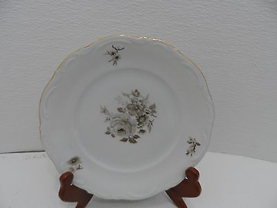 "Mitterteich Bavaria Germany China-Floral-7.5"" Salad/bread Plate-Roses"