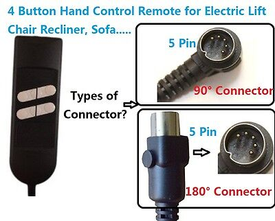 Electric Recliner Lift Sofa Chair Remote Control Switch 5 Pin for OKIN LIMOSS
