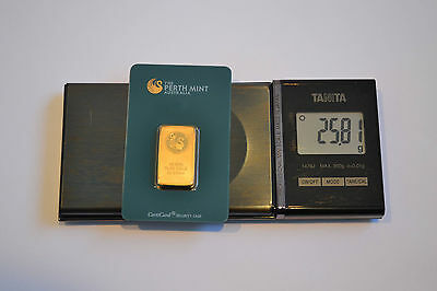 20g Perth Mint Minted Gold Bullion Bar in CertiCard