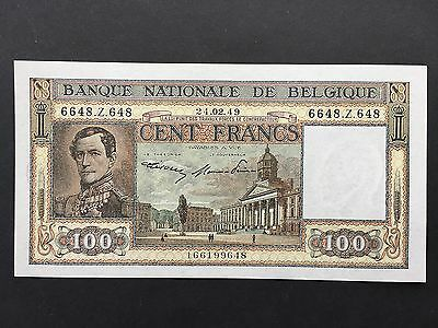 Belgium 100 Francs P126 Leopold I Dated 24th February 1949 aUncirculated aUNC