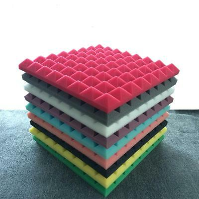 8 X Acoustic Foam Insulation Tile Studio Sound Proof Isolation Square Panel 50cm