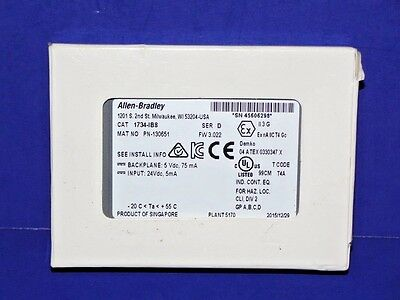 2015 NEW IN BOX Allen Bradley 1734-IB8 Series D POINT I/O Input Module