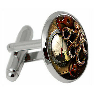 Vintage Classic Round Octopus Cufflinks Mens Wedding Party Gift Shirt Cuff Links