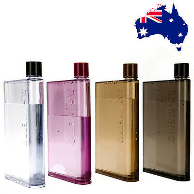 A5 water Bottles, 470ml, 4 Colours, AU stock. HOT Price! Flat, Thin, Smart!