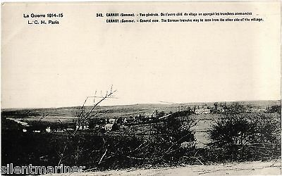 Carnoy, Somme, WWI b+w postcard, unposted