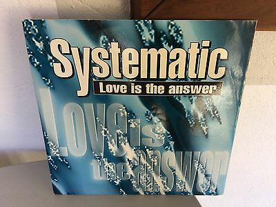 1993#vintage Single Vinyl Vinile  Love Is The Answer Systematic
