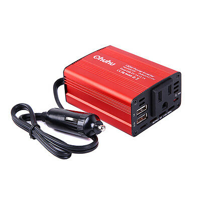 150W Car Power Inverter DC 12V to 110V AC Converter with 3A Dual USB Charger USA