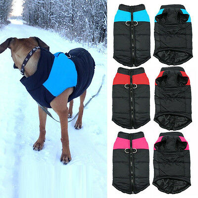 Dog Waterproof Warm Coat Jacket Outdoor Quilted Padded Puffer Clothes Snow