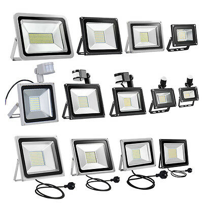 10W 50W 100W 150W 200W 300W 500W SMD LED PIR Motion Sensor Flood Light AU Plug