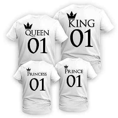 King Queen Prince Princess Matching Mother's/ Father's Day Family Gift Funny Top