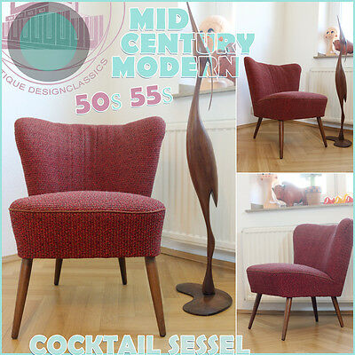 ROCKABILLY VINTAGE COCKTAIL ARMCHAIR SESSEL FAUTEUIL 50s ❤️ MID CENTURY MODERN