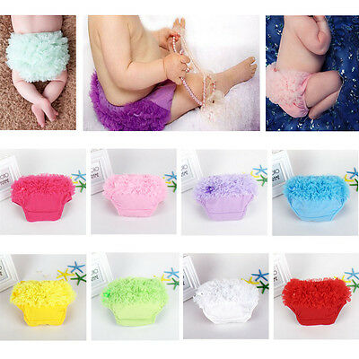 Infant Baby Girls Bloomer Nappy Diaper Cover Tulle Ruffle Pants Shorts Bottoms