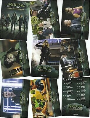 Arrow Season 3 (Three): 81 Card Basic/Base Set - Cryptozoic 2017