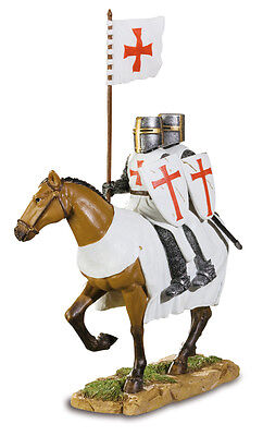 Templar Knight Statue Coat Of Arms Shield Flag Middle Age  Medieval Crusader