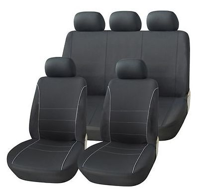 Peugeot Tate 82-89 Black Seat Covers With Grey Piping