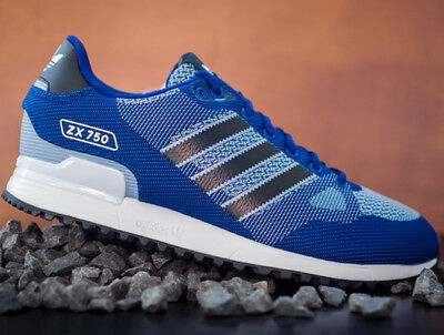 Neu! Top! Adidas Originals Zx 750 By9272 Herrenschuhe Sneakers Jogging Blau Weiß