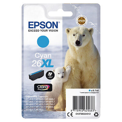Epson 26XL Cyan Inkjet Cartridge C13T26324012