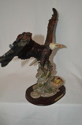 Goldenvale Collection American Bald Eagle Patriotic Statue Protecting Nest Home