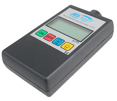 NEW! Digital Car Paint Thickness Coating Gauge Meter Tester STEEL Built probe EU
