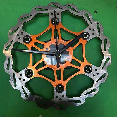 Bicycle 203mm floating brake disc rotor clock upcycled repurposed by AsBeAu