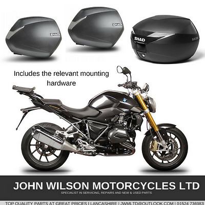 BMW R1200R Nine T 2015 Full Luggage Panniers Side Cases Top Box & Fittings