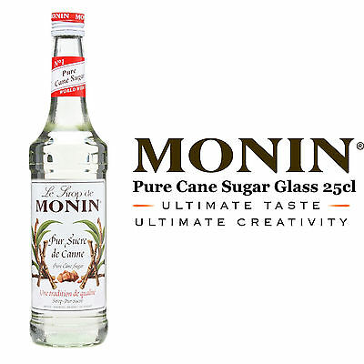 Monin Coffee Syrups - PURE CANE SUGAR - 25cl Glass Bottle - USED BY COSTA COFFEE