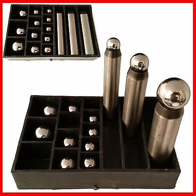 Magnetic Dapping Punch Changeable Ball 12pc 12~25mm LARGE Jewelry Metal Forming