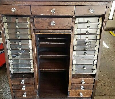 Large Brainerd and Armstrong Spool Cabinet