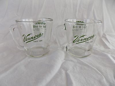 2 Heavy Vernors Cups Mugs With Neat Graphics Euc