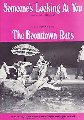 Partition sheet music / the Boomtown rats / someone's looking at you 1979
